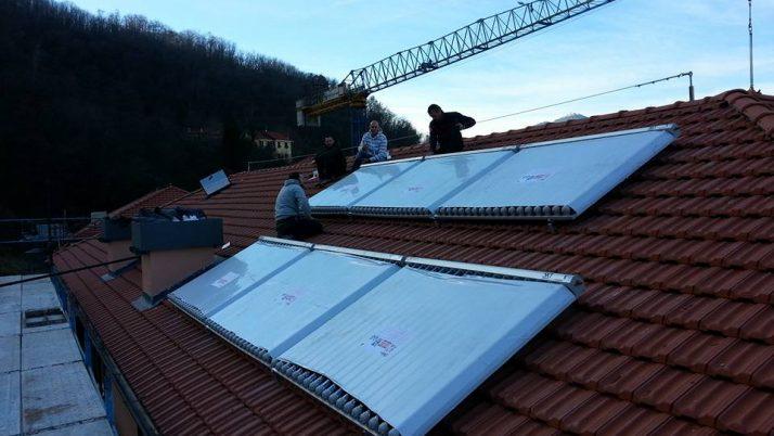 Impianto solare  Via Campo Poggio Loc . Pedemonte Genova